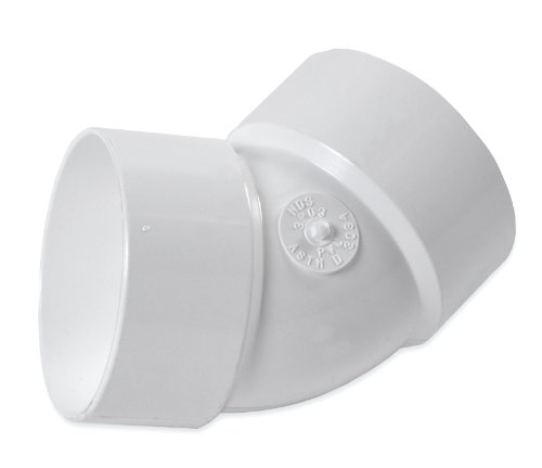 NDS 3P03 3-Inch Sewer Drain Elbow, 45-Degree, PVC