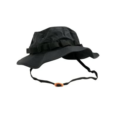 PURECITY® Boonie Hat Chapeau Brousse Jungle US Army Commando Trooper - Coloris Black Panther - Taille Médium - Airsoft - Paintball - Chasse - Pêche - Randonnée - Outdoor
