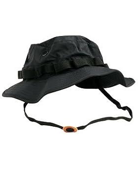 Boonie Hat Bush Hat Jungle US Army Commando Trooper – Colour Black Panther  – Size Large 3d20146272d
