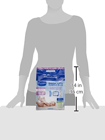 Amazon.com: Mustela Diaper Wipes 4 Piece Bundle Bag, 3.70 lb.: Luxury Beauty