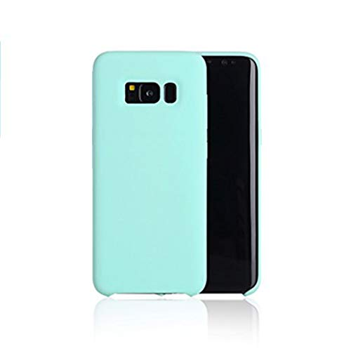 Anyos Galaxy S8 Case, Liquid Silicone Gel Rubber Slim Fit Soft Skin Bumper Protective Cover for Samsung GalaxyS8 (Mint Green)