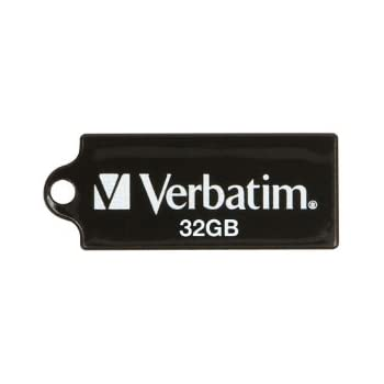 Verbatim 32GB Micro USB Flash Drive, Black 44051