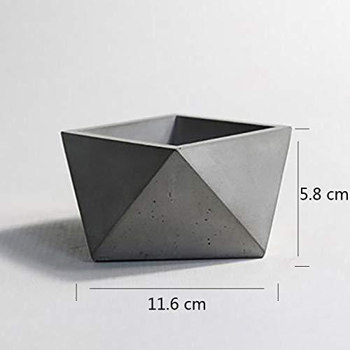 Nicole Molde de cemento de silicona para macetas de concreto que hacen el molde Herramienta artesanal Bonsái hecha a mano: Amazon.es: Juguetes y juegos