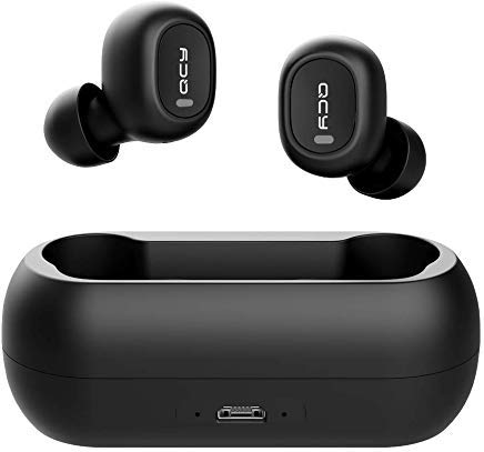 Wireless Earbuds, Wireless Bluetooth 5.0 3D Stereo Sound True Wireless Headphones with Built-in Microphone, Instant Pairing Noise Cancelling Earphones with Portable Charging Case for iPhone Android