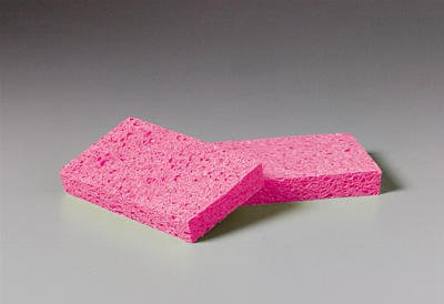 3M Scotch-Brite A21 Cellulose Sponge, 0.9'' Thick, 6'' Length x 3.6'' Width, Pink