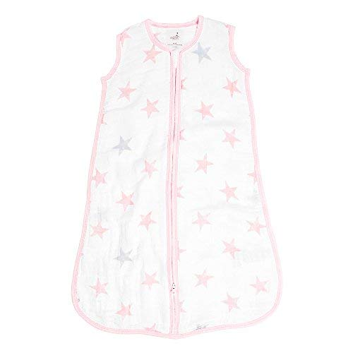 Aden durch Aden + Anais Classic Sleeping Bag, 100% Cotton Muslin, Wearable Baby Blanket, Doll, Stars, Large, 12-18 Months