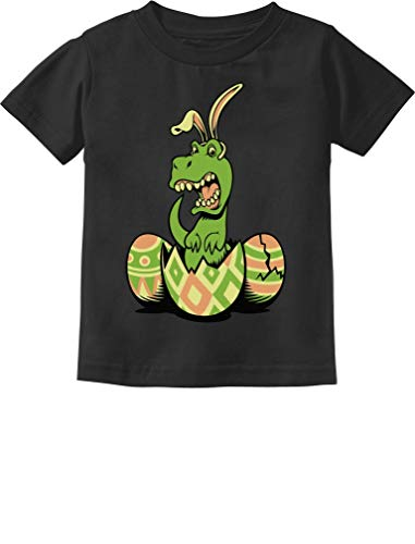 Tee Infant Toddler - T-Rex Bunny Easter Egg Funny Gift for Easter Toddler/Infant Kids T-Shirt 4T Black