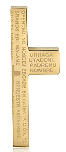 Stainless Steel Bullet Shape Bible Cross Necklace Charm Pendant - (Black) - 3