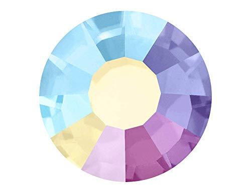 (Crystal AB HOTFIX, 288 Preciosa Genuine Czech Crystals 30ss 12ft Iron-on, ss30, 6.5mm)