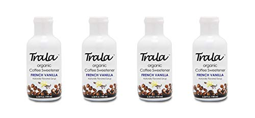 - TraLa Certified Organic Coffee Syrup Sweetener - Keto, Vegan & Kosher - For Health Conscious Coffee Lovers - Subtly Sweet, Low Calorie Healthy Sugar Substitute (French Vanilla, 4 Pack)