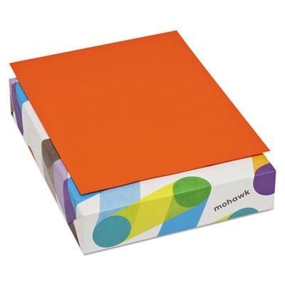 Mohawk BriteHue Multipurpose Colored Paper, 20 lb., 8-1/2 x 11 Inches, Orange, 500 Sheets/Ream (MOW472608)