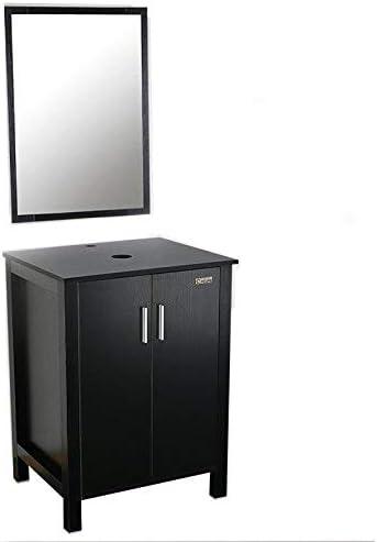U-Eway 24″ Bathroom Vanity Modern Pedestal Cabinet,MDF Wood,20-inch Deep