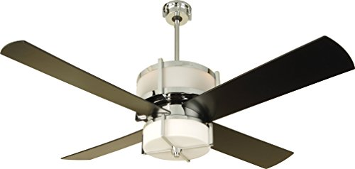 Craftmade Ceiling Fan with Light and Remote MO56CH4 Midoro 56 Inch Uplight, Chrome Matt Opal Glass