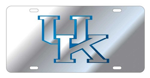 Kentucky Wildcats Acrylic Inlaid Mirrored License Plate with Silver UK - Wildcats Acrylic