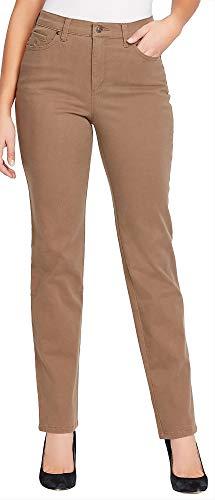 Gloria Vanderbilt Womens Amanda Stretch Jeans 6 Smoked Truffle Brown