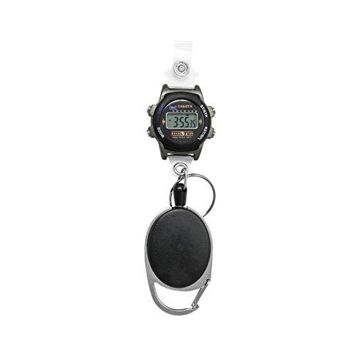 Dakota Clip On Carabiner Water Resistant Retractable Digital Watch and ID Badge Holder (Model: 36552) (Watch Dakota Digital)