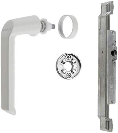 Sch/üco Reparaturset Getriebe Griff Rosette RAL9010 Aluminiumfenster DIN Links 223285