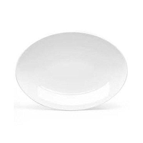 Platter Franklin - European White Rolled Edge Platter, Franklin, Oval