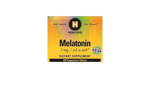 Amazon.com: Melatonin 3mg Highland Laboratories 120 VegTab: Health & Personal Care