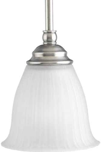 Progress Lighting P5104-81 1-Light Mini-Pendant, Antique Nickel