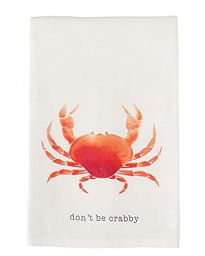 - Mud Pie Crab Nautical Icon Dish Towel