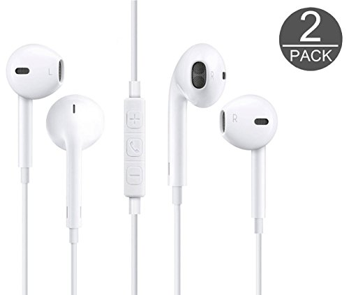 Wired Headphones, 2-Pack Earphones Headphones Stereo Headphones Microphones Earphones Microphones and Remote...