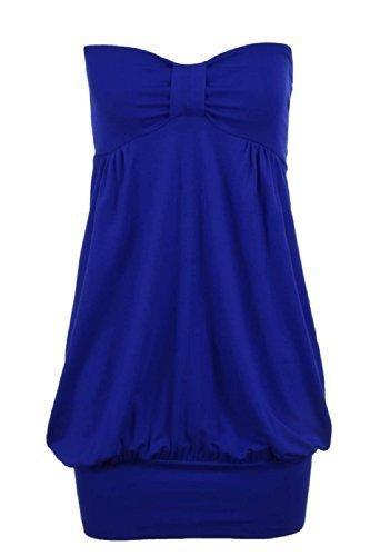 Casual Royal Knot Honor Size Plus spalline Party Blue senza Zaffiro Boobtube Top pOBRnq