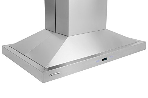 XtremeAir PX05-I42 900 CFM LED lights, Both Side accessible Control, Baffle Filters with Grease Drain Tunnel, 1.0mm Non-Magnetic Stainless Steel Seamless Body, Island Mount Range Hood, 42'' by XtremeAIR (Image #6)