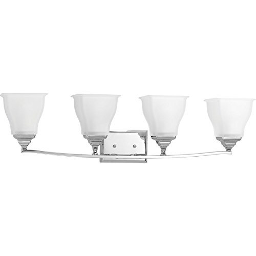 Progress Lighting P2178-15 4-100W Medium Base Bath Bracket, Polished Chrome