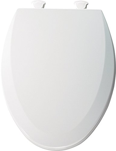 Bemis 1500EC062 Molded Wood Elongated Toilet Seat With Easy Clean and Change Hinge Ice Grey