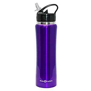 Green Canteen DWVB-125-PR Double Wall Stainless Steel Vacuum Bottle, 25 oz, Purple