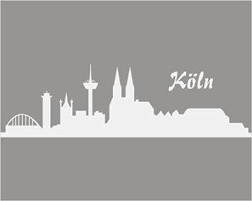 Aufkleber Köln Skyline 120x35cm Hellgrau Amazon De Auto