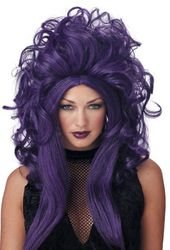 [dolly2u WIG SORCERESS BLK PURPLE] (Ladybug Costume Makeup)