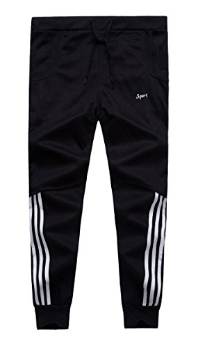 Grimgrow Boy's Pull On Basic Jogger Pants Sport Running Shorts Trousers Black 6 by Grimgrow