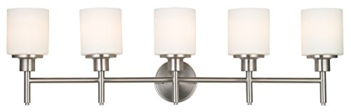 Design House 556225 Aubrey 5 Light Vanity Light, Satin Nickel - Design House Light Fixtures