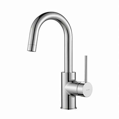 KRAUS Oletto Single Handle Kitchen Bar Faucet in Chrome Finish