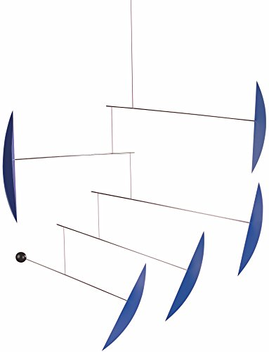 Flensted Mobiles Tango Blue Hanging Mobile - 40 Inches - Steel and Plastic by Flensted Mobiles
