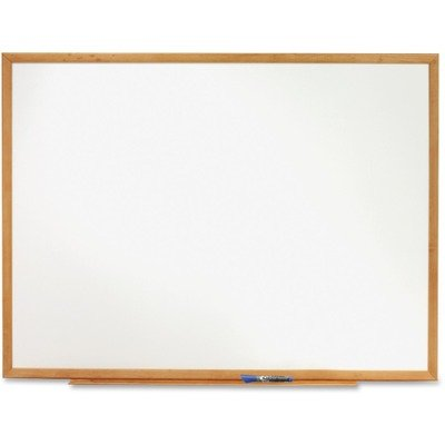 Quartet Dry Erase Board, 8' x 4' Whiteboard, Standard, Oak Finish Frame (S578)