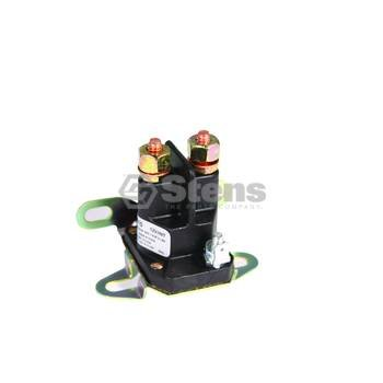 Stens 435-431 Starter Solenoid, Single Pole (Chassis Ground) Pole Style, Unique Terminal Post and Sleeve Will Accommodate Both 5/16