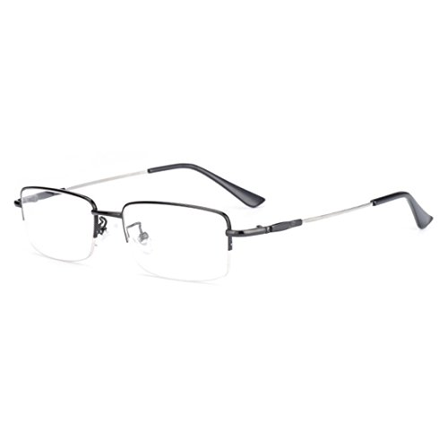 4 5 Metal Inlefen 5 5 0 Gafas 0 3 1 0 2 De 3 1 4 5 5 Neutral moda 2 0 5 5 Medio marco 5 para Negro 0 miopía 0 6 0 q44tpUx