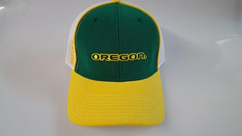 書店対抗公園新しいOregon Ducksグリーン&イエローマジックテープメッシュ帽子
