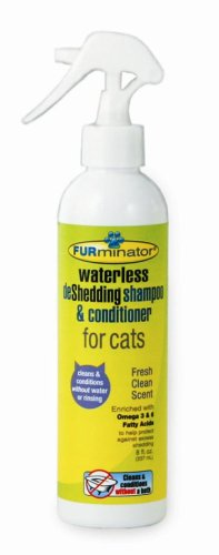 Furminator Waterless deShedding Shampoo Conditioner for Cats (8 oz)