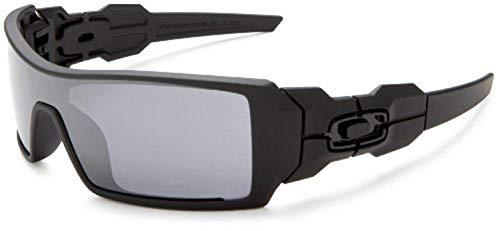 Oakley Men's OO9081 Oil Rig Shield Sunglasses, Matte Black/Black Iridium, 28 ()