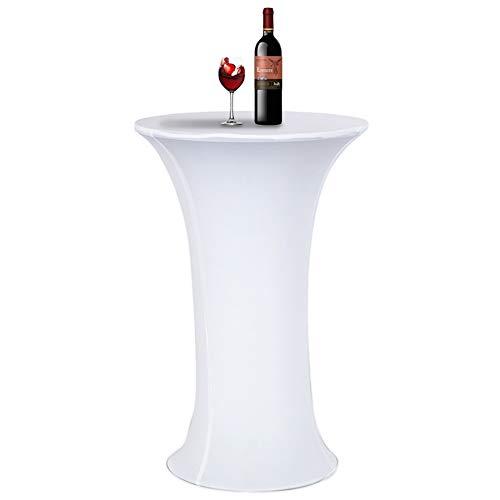 elastico Spandex funda para mesa mantel de coctel para Ø 60-65cm,mesita auxiliar de 110cm de alto con base redonda,reunion Boda Evento Decoracion