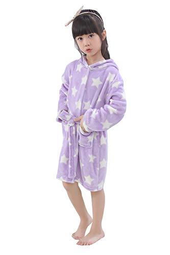 LANTOP Kid Soft Bathrobe Comfy Unicorn Flannel Robe Hooded All Seasons Gift bca91b412
