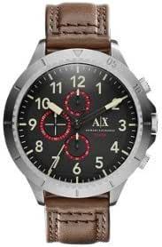 Armani Exchange Men's AX1755 Brown Leather Watch