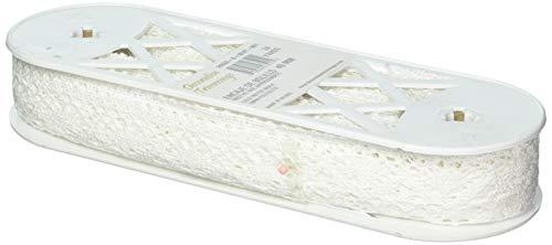 - Decorative Trimmings White Cotton Cluny Lace Edge Trim 1-5/8
