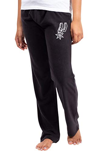 Ultra Game Women's NBA Sleepwear Super Soft Plush Pajama Loungewear Pants, San Antonio Spurs, Black, Medium