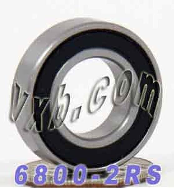 Miniature Ball Bearings Black Rubber Sealed Bearing 20 PCS 693-2RS 3x8x4