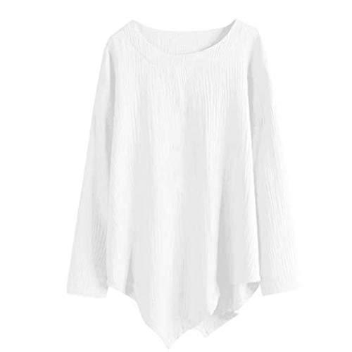 Xinantime nbsp; Manches L Coton che Hiver Longues Blanc Chemise et Automne Vintage Casual Chemise Lin Blouse Femmes Top Femme Tee rwqvSr